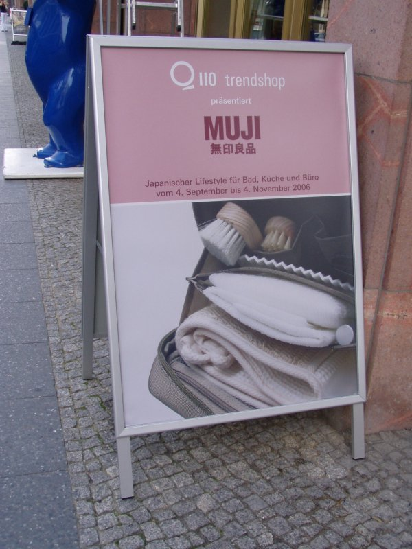 Muji sales exhibition, Q110