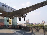 C47 Skytrain Bomber at the Museum for Technology (Transport Museum) in Berlin