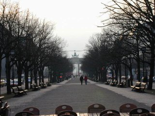 Unter den Linden, facing towards the Brandenburg Gate