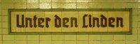 Wall sign at S-Bahn station Unter den Linden, Berlin