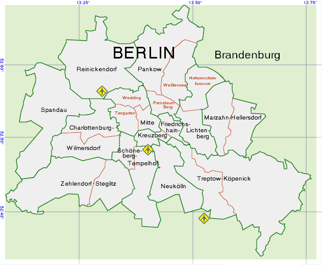 Districts and Neighbourhoods - Berlin Guide in English