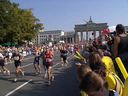 Berlin Marathon - runners reaching the finishing line