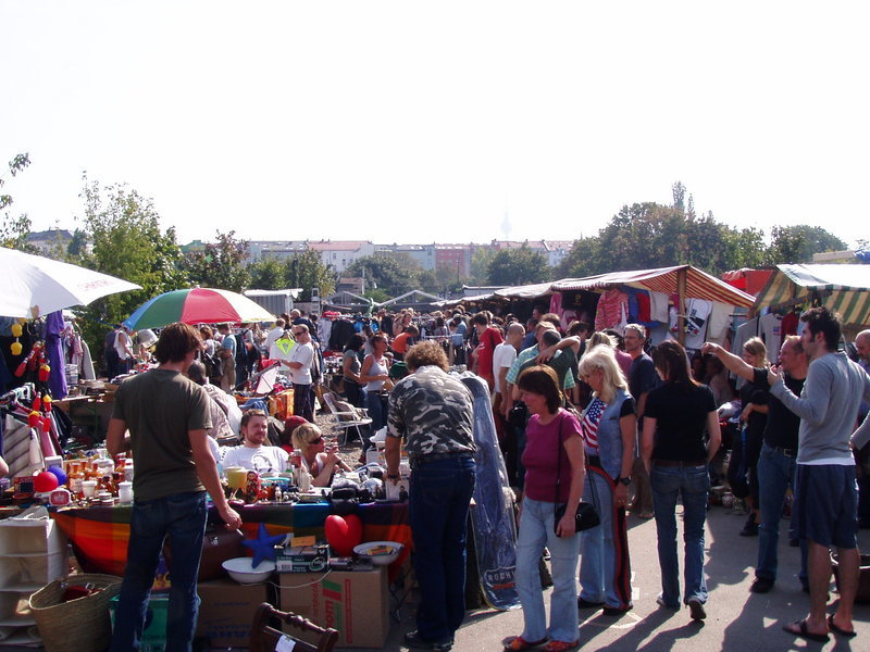 "Flea Market at Berlin's Mauerpark (""Wall Park"")"