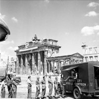 The Brandenburg Gate in 1945