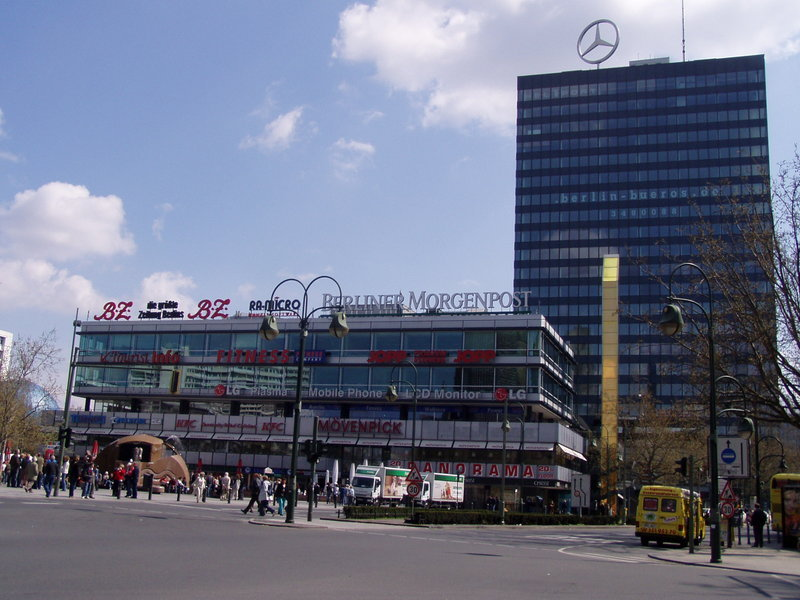 Europa-Center, Berlin; on Breidscheidplatz opposite the Memorial Church