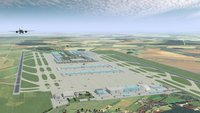 New BBI Airport - simulated view from above